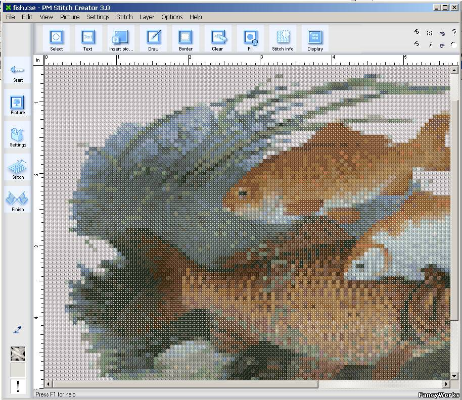 Pm stitch creator embroidery cross program Фотографии